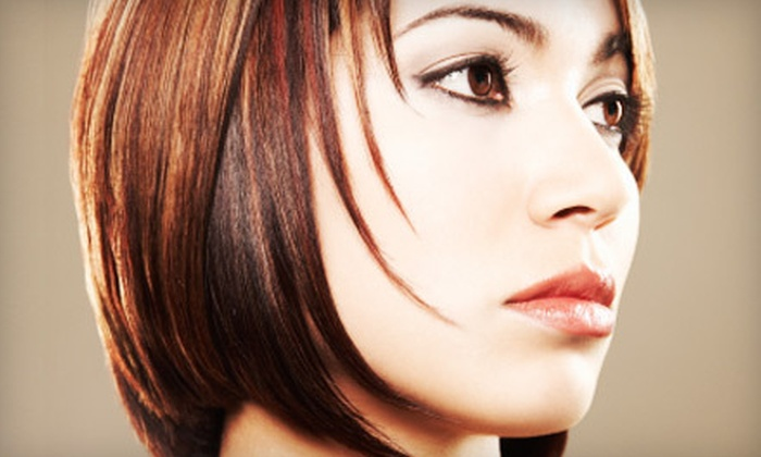 Salon Lucente - West: Cut, Style, and Deep Conditioning With Option of Half or Full Highlight or Five Blow-dry Packages at Salon Lucente (Up to 67% Off)
