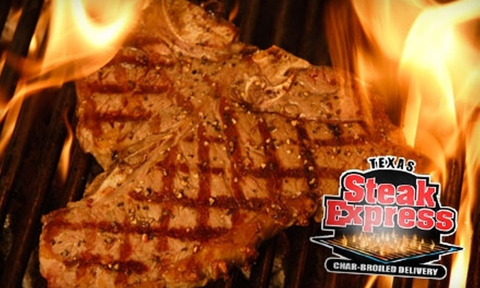 Texas Steak Express - Multiple Locations: $10 for $20 Worth of Steaks, Burgers, and More at Texas Steak Express