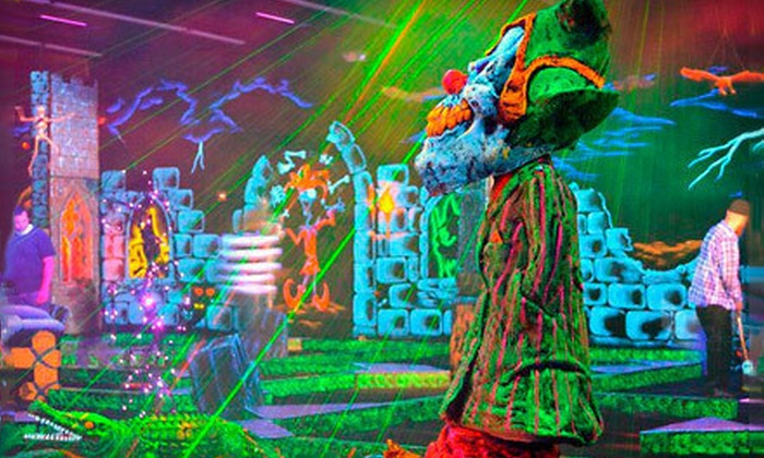 Monster Mini Golf - Seekonk: Four or Eight Rounds of Black-Light Mini Golf at Monster Mini Golf (Up to 53% Off)