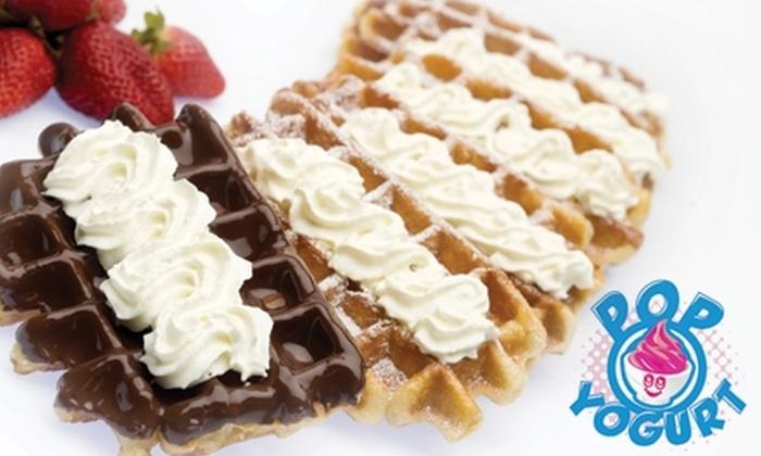 Pop Yogurt - SoHo: $7 for $14 Worth of Frozen Yogurt, Liege Belgian Waffles, and Young Thai Coconuts at Pop Yogurt