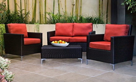 Napa 4-Piece Wicker Outdoor Furniture Set