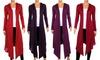 Women's Plus-Size Hooded Cardigan: Women's Plus-Size Hooded Cardigan
