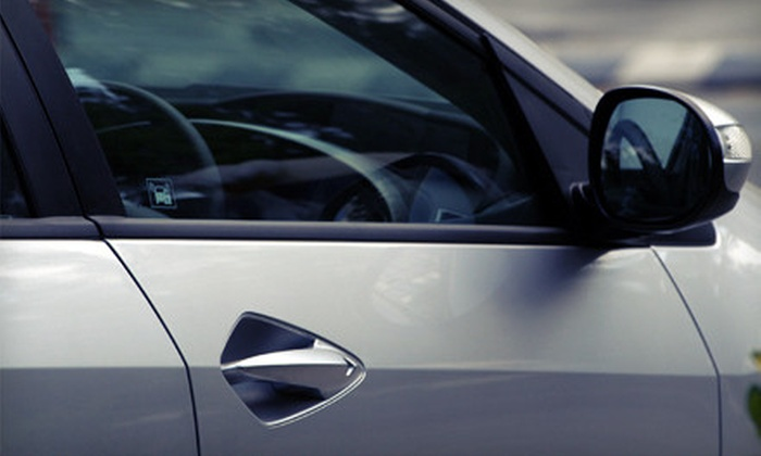 Redline Motorwerks - Castleton: Auto-Glass Tinting for Windshield or for Rear Window and Up to Four Side Windows at Redline Motorwerks (Up to 67% Off)