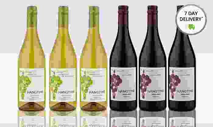 6-Bottle Assortment of Hangtime Pinot Noir and Chardonnay: 6-Bottle Assortment of Hangtime Pinot Noir and Chardonnay