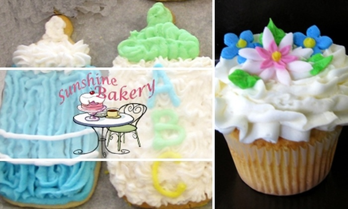 Sunshine Bakery - Indianapolis: $6 for Six Cupcakes or Six Iced Cookies from Sunshine Bakery