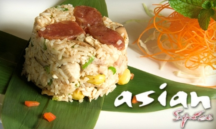Asian Spice - Downtown - Penn Quarter - Chinatown: $25 for $50 Worth of Asian-Fusion Cuisine and Drinks at Asian Spice
