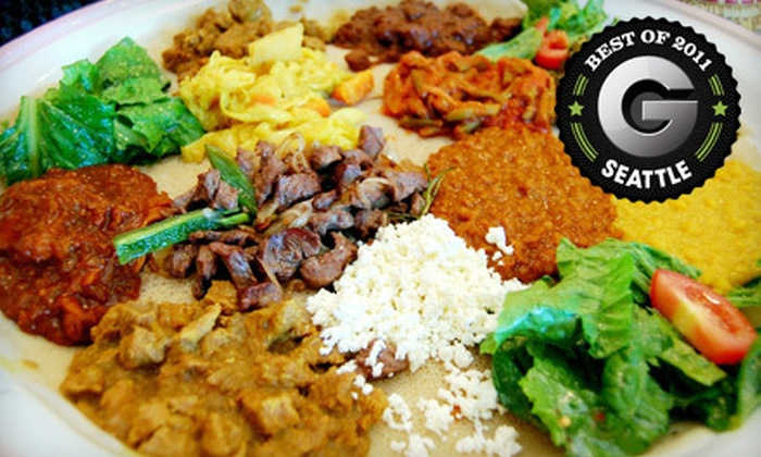 Habesha - Downtown Seattle: Three-Course Ethiopian Dinner for Two or Four at Habesha (Up to 51% Off)