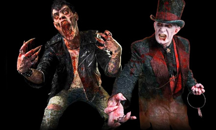 House of Horrors and Haunted Catacombs - Cheektowaga: $30 for Two VIP Admissions at House of Horrors and Haunted Catacombs in Cheektowaga ($60 Value). Two Options Available.