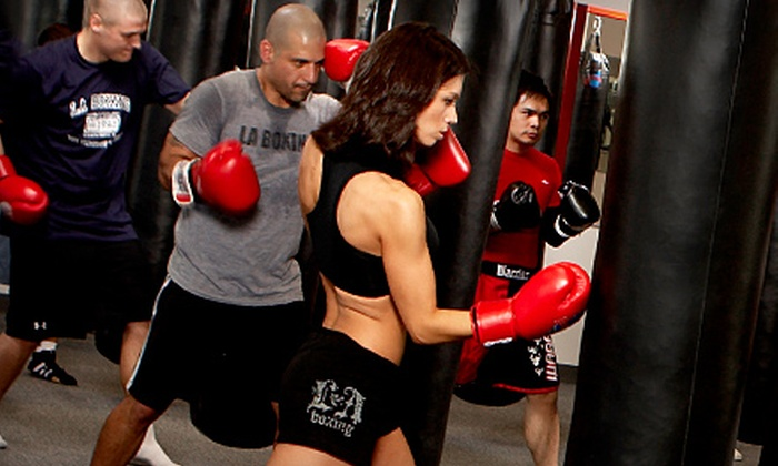 LA Boxing - Multiple Locations: One Month of Unlimited Boxing, Kickboxing, and Mixed Martial-Arts Classes at LA Boxing. Two Locations Available.