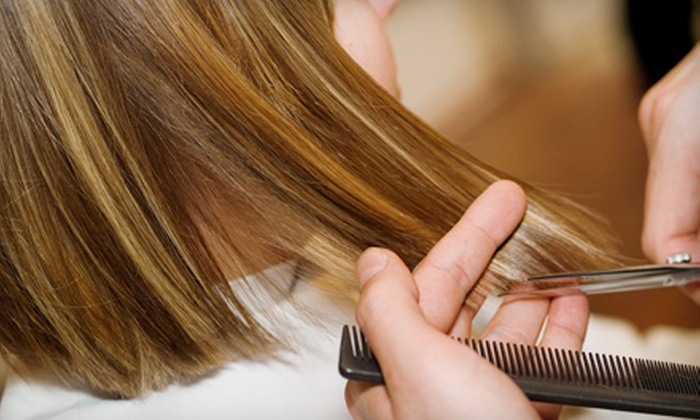 Salon^PK - Windy Hill: Shampoo, Cut, and Style or Shampoo and Full-Head Extensions at Salon^PK