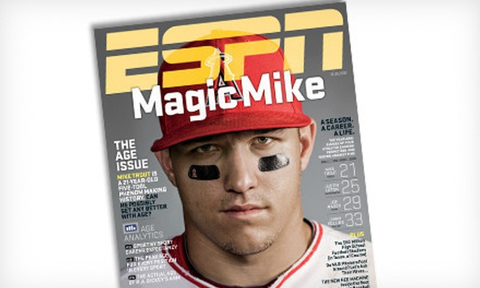 """""""ESPN The Magazine"""" Subscription Package With Gift: $13 for a Sports-Fan Package with a One-Year Subscription to """"ESPN The Magazine"""" and ESPN Gift of Your Choice ($26 Value)"""