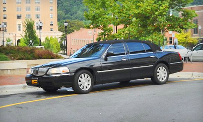 Stevens Transportation - Downtown Asheville: $20 for One-Way Transportation to Asheville Regional Airport for One or Two People from Stevens Transportation (Up to $45 Value)