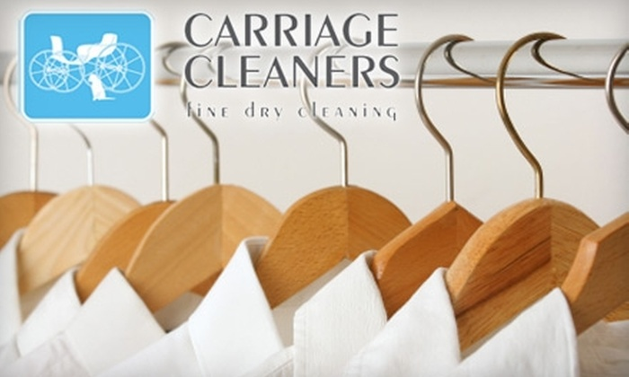 $9 for $20 Worth of Dry Cleaning and Laundry Services at Carriage Cleaners. Choose from Six Locations.