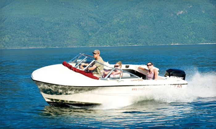 Sewell's Marina - Horseshoe Bay: One-Hour Boat Rental for up to Six, or Sea Safari Tour for One, Two, or Four from Sewell's Marina (Up to 60% Off)
