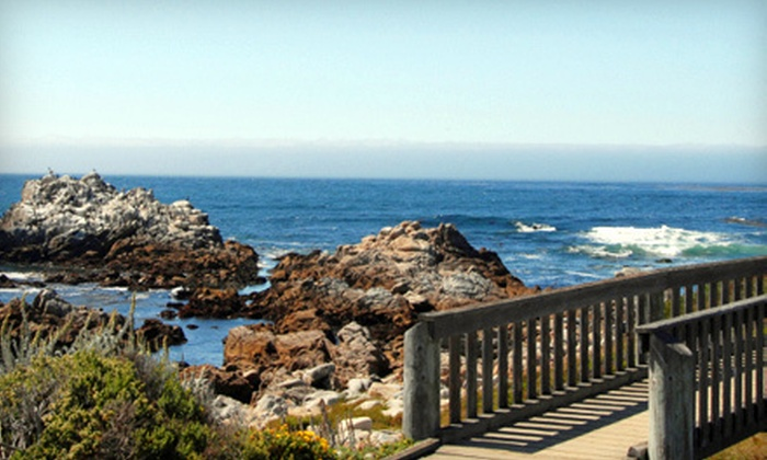 Anton Inn - Pacific Grove: Two-Night Stay for Two with Steak and Lobster Dinner, Aquarium Tickets, or Both at Anton Inn in Pacific Grove (Up to 59% Off)