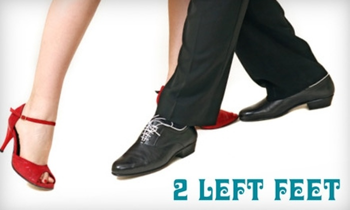 2 Left Feet Dance Studio - Multiple Locations: $35 for Six Weeks of Couples' Group Dance Lessons at 2 Left Feet Dance Studio ($80 Value)