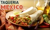 Taqueria Mexico - OLD Ownership - Bank Square: $12 for $25 Worth of Authentic Mexican Fare at Taqueria Mexico in Waltham