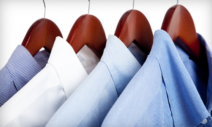 Millcreek Cleaners - Mill Woods Golf Course: Dry Cleaning for Clothes, Home Goods, or Wedding Dress from Millcreek Cleaners. Choose from Three Options.