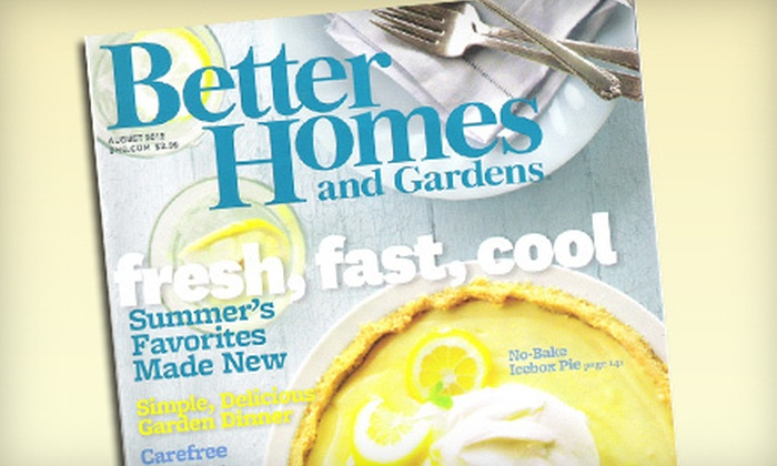 "Subscriptions to Home and Cooking Magazines: ""Ladies' Home Journal,"" ""Better Homes and Gardens,"" ""Taste of the South,"" or ""Cooking with Paula Deen"" (Up to 77% Off)"