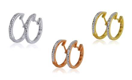 3-Piece Diamond Hoop Earring Set. Free Returns.