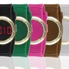 Digital Rubber Touch Watch with Crystal Accents