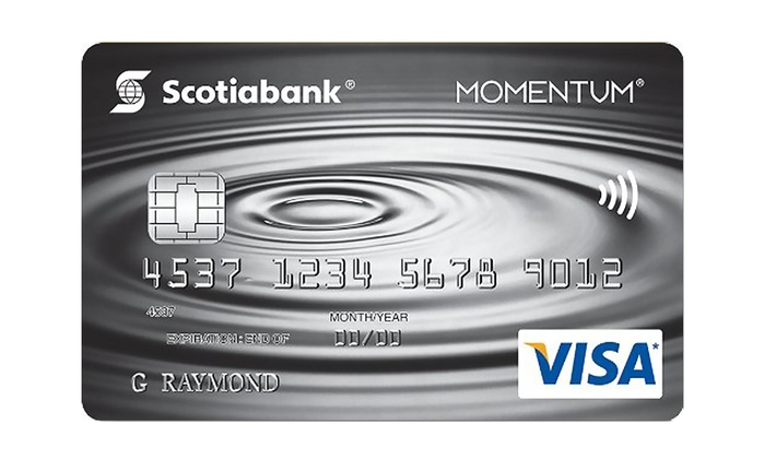 Scotiabank: Get $85 Groupon Bucks Upon Approval of a Scotiabank Scotia Momentum No-Fee VISA Card