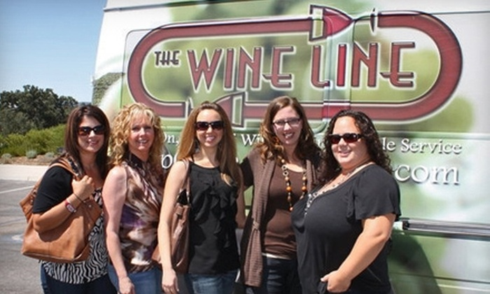 The Wine Line - Multiple Locations: $65 for Wine Tour, Tasting, and Lunch from The Wine Line ($134.95 Value)