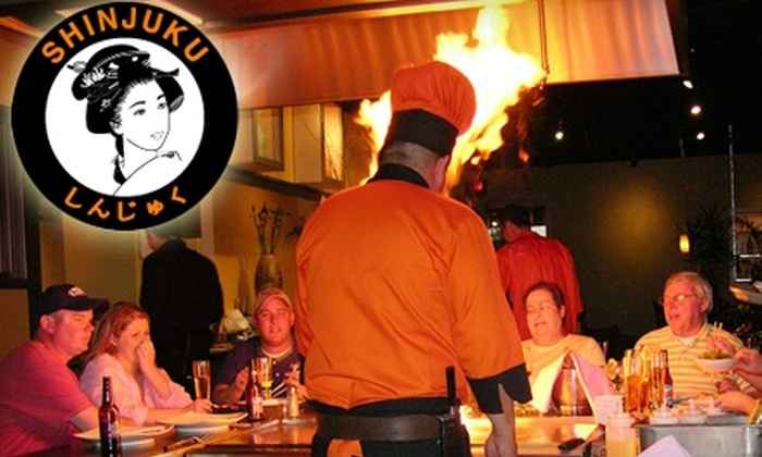 Shinjuku Japanese Steak & Seafood House - Southeast Crossing: $15 for $30 Worth of Hibachi, Sushi, Drinks, and More at Shinjuku Japanese Steak & Seafood House in Aurora