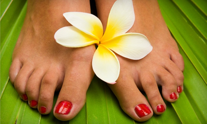 Meta Day Spa - Victoria: $25 for a 30-Minute Swedish, Deep-Tissue, or Aromatherapy Massage or a Pedicure at Meta Day Spa (Up to $67.20 Value)