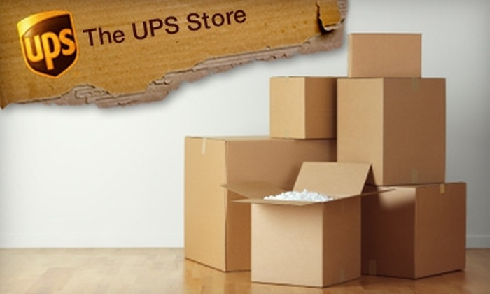 The UPS Store - Multiple Locations: $12 for $25 Worth of Packing Services at The UPS Store. Four Locations Available.