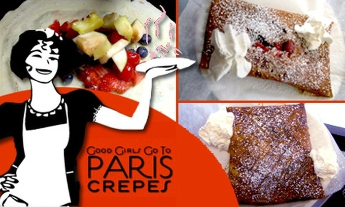 Good Girls Go To Paris Crepes - University: $6 for $12 Worth of Crêpes and Coffee at Good Girls Go To Paris Crepes