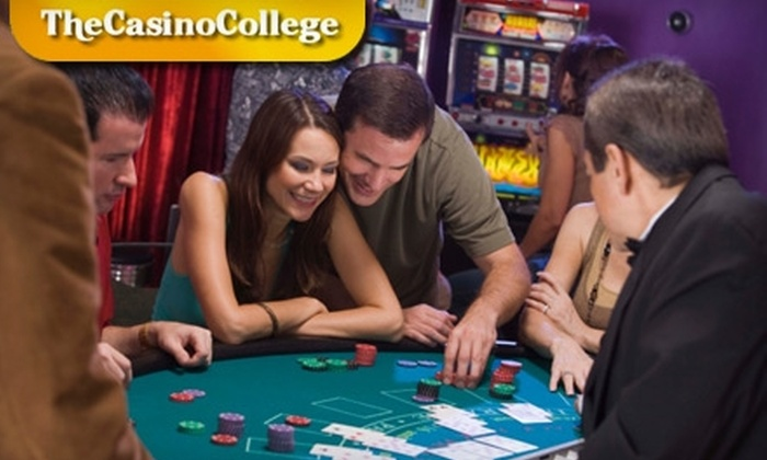The Casino College - Multiple Locations: $45 for a Poker and Blackjack Strategy Class ($125 Value) or $225 for a Casino-Dealing Certification Class ($499 Value) at The Casino College