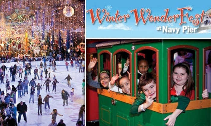 Navy Pier - Near North Side: $9 for Rides, Ice Skating, and More at Winter WonderFest at Navy Pier ($19 Value)