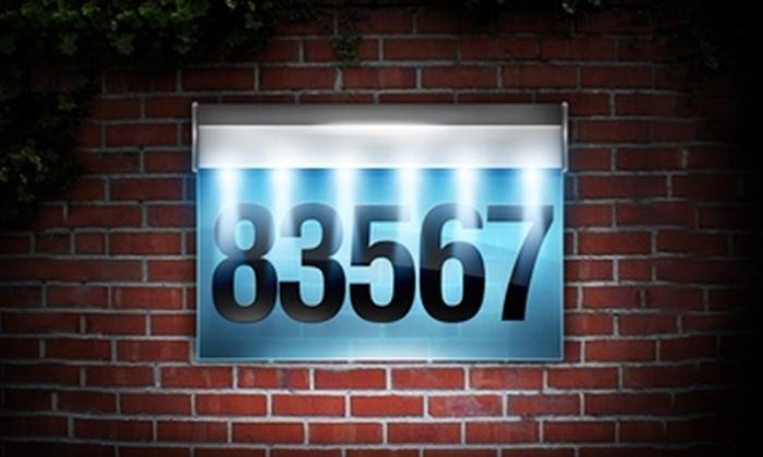 GreenStick Solar - San Angelo: $26 for LED Solar Address Panel from GreenStick Solar ($55.48 Value)