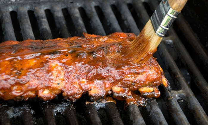 Hecky's Barbecue - Evanston: $14 for a Rib Dinner for Two with a Full Slab of Baby-Back or Spare Ribs, Sides, and Drinks from Hecky's Barbecue in Evanston (Up to $29.89 Value)