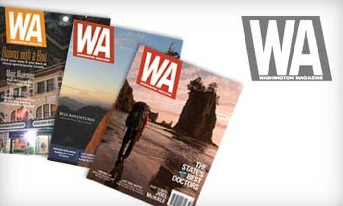 """Washington Magazine: $6 for One-Year Subscription to """"Washington Magazine"""" ($12 Value)"""