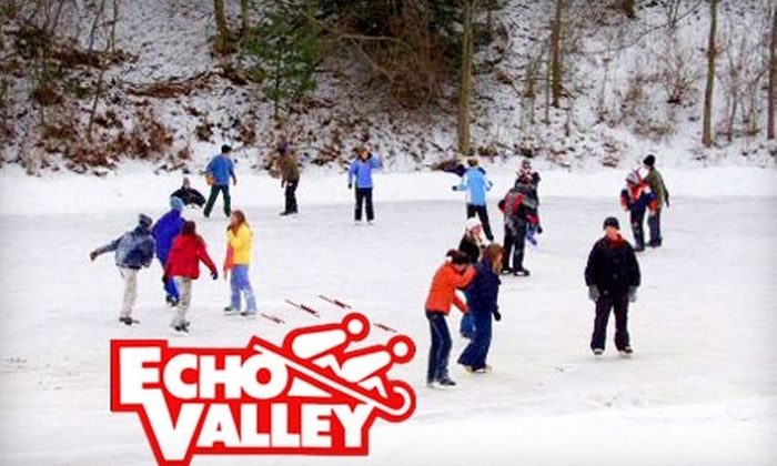 Echo Valley - Comstock: $7 for Two All-Day Ice-Skating Passes, Skate Rental, and Two Hot Chocolates at Echo Valley ($14 Value)
