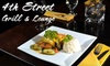 4th Street Grill & Lounge - Renton: $20 for $40 Worth of Asian and American Cuisine at 4th Street Grill & Lounge in Renton