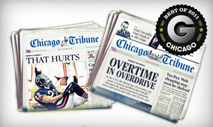 """""""Chicago Tribune"""" - Chicago: $26 for a One-Year Sunday and Wednesday–Friday Subscription to the """"Chicago Tribune"""" (Up to $155.74 Value)"""