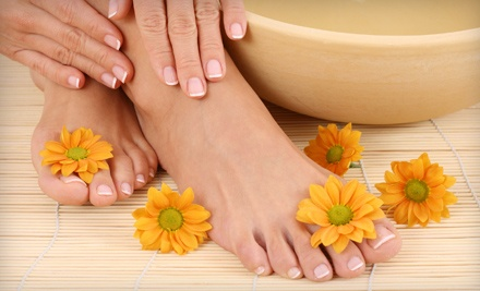 Shellac Manicure and a Warm Milk Lavender Pedicure (a $90 value) - Glow Wellness Spa in Coral Springs