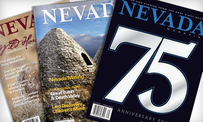 """""""Nevada Magazine"""" - Las Vegas: $15 for a One-Year Subscription to """"Nevada Magazine"""" and a """"Historical Nevada"""" History Book ($29.90 Value)"""