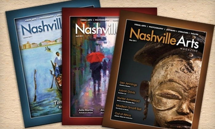 """Nashville Arts Magazine"": $22 for 12 Issues of ""Nashville Arts Magazine"" ($45 Value)"