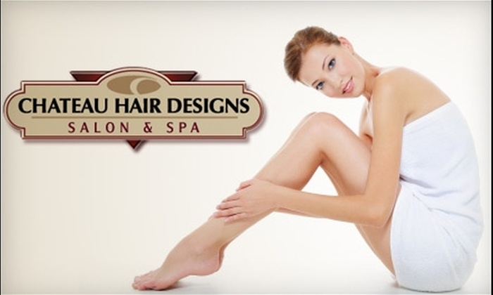 Chateau Hair Designs Salon & Spa - Fairport: $99 for Three Laser Hair-Removal Treatments at Chateau Hair Designs Salon & Spa
