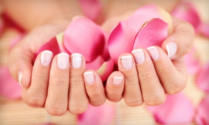 King Nails - Town N County Alliance: $30 for Sugar or Salt Glow Spa Manicure and Rose Exfoliation Pedicure at King Nails