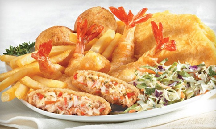 Long John Silver's - Cedar Rapids: $15 for Five Seafood or Chicken Meals at Long John Silver's (Up to $31.45 Value). Two Locations Available.