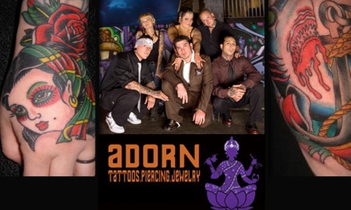 Adorn Body Art - Multiple Locations: $40 for $85 Worth of Tattooing Services at Adorn Body Art