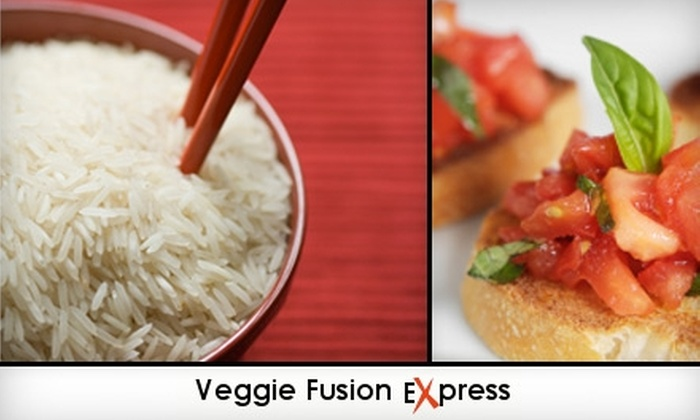 Veggie Fusion Express - Downtown: $5 for $10 Worth of Vegetarian Cuisine and Drinks at Veggie Fusion Express