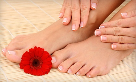 1 Spa Manicure and Pedicure (a $43 value) - Kimberlys Skin Care and Laser Center in Suwanee