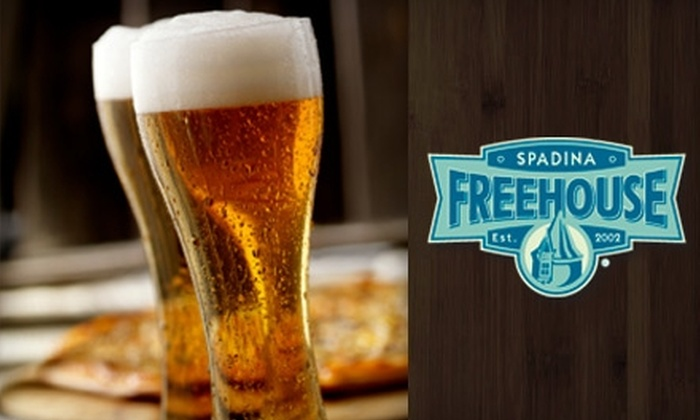 Spadina Freehouse - Central Business District: $20 for $40 Worth of Dinner and Drinks at the Spadina Freehouse (or $10 for $20 Worth of Lunch and Drinks)