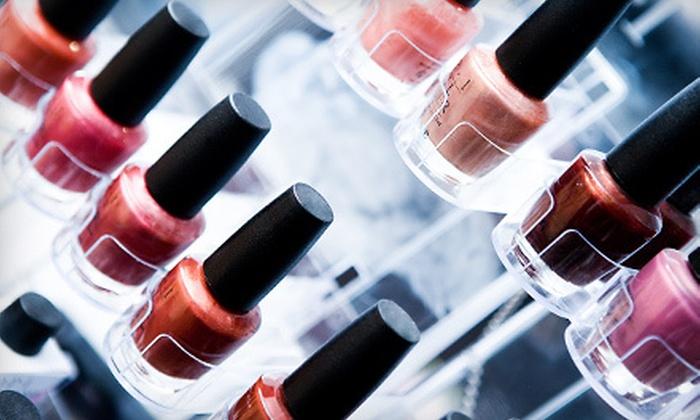 Exquisite Design Salon - Columbus: One or Three Mani-Pedis with Gel Finish at Exquisite Design Salon (Up to 58% Off)